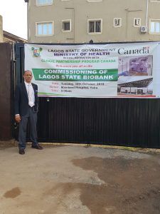 GET P.I. Prof Akin Abayomi at the Commissioning of the Lagos State Biobank