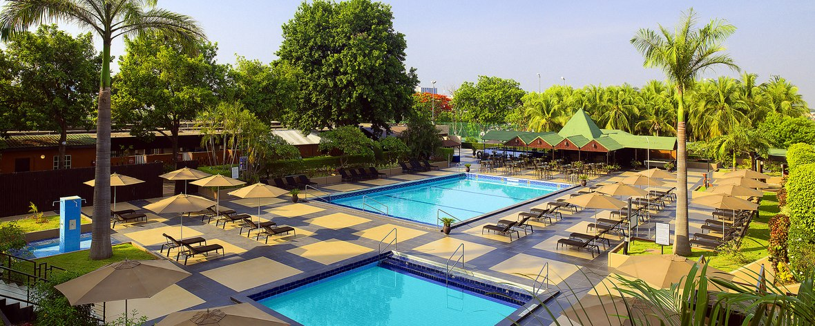 Pool side, Sheraton Hotel, Abuja.