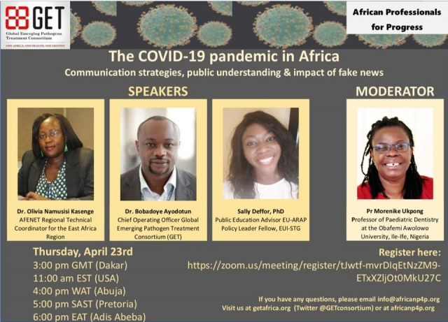Covid-19 pandemic in Africa-April 2020