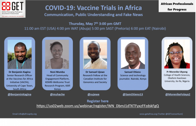 Covid-19 Vaccine Trials in Africa -May 2020