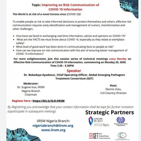 Improving on Risk Communication of Covid-19 Information-April 2020